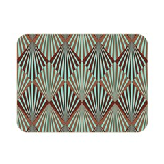 Art Deco Teal Brown Double Sided Flano Blanket (mini)