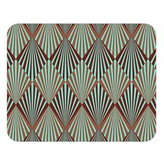 Art Deco Teal Brown Double Sided Flano Blanket (large)