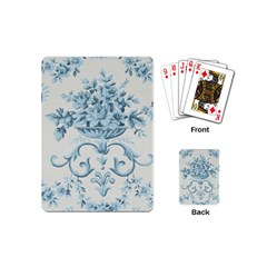 Blue Vintage Floral  Playing Cards (mini)