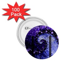 Beautiful Violet Spiral For Nocturne Of Scorpio 1 75  Buttons (100 Pack)