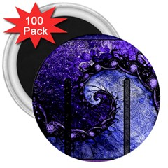 Beautiful Violet Spiral For Nocturne Of Scorpio 3  Magnets (100 Pack)