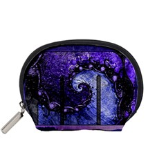 Beautiful Violet Spiral For Nocturne Of Scorpio Accessory Pouches (small)