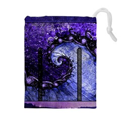 Beautiful Violet Spiral For Nocturne Of Scorpio Drawstring Pouches (extra Large)