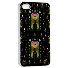 Queen In The Darkest Of Nights Apple Iphone 4/4s Seamless Case (white)