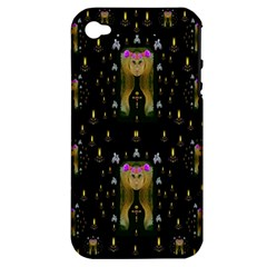 Queen In The Darkest Of Nights Apple Iphone 4/4s Hardshell Case (pc+silicone)