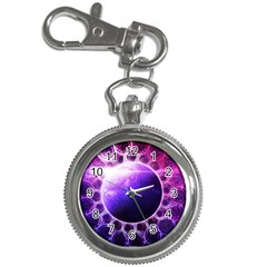 Beautiful Violet Nasa Deep Dream Fractal Mandala Key Chain Watches