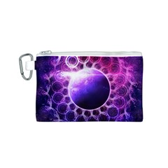 Beautiful Violet Nasa Deep Dream Fractal Mandala Canvas Cosmetic Bag (s)