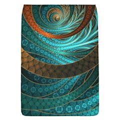 Beautiful Leather & Blue Turquoise Fractal Jewelry Flap Covers (s)