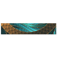 Beautiful Leather & Blue Turquoise Fractal Jewelry Small Flano Scarf