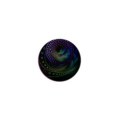 Oz The Great With Technicolor Fractal Rainbow 1  Mini Magnets