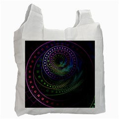 Oz The Great With Technicolor Fractal Rainbow Recycle Bag (two Side)
