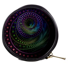Oz The Great With Technicolor Fractal Rainbow Mini Makeup Bags