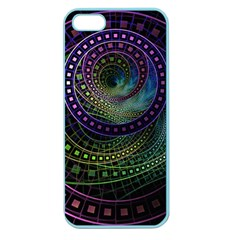 Oz The Great With Technicolor Fractal Rainbow Apple Seamless Iphone 5 Case (color)