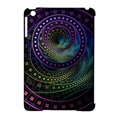 Oz The Great With Technicolor Fractal Rainbow Apple Ipad Mini Hardshell Case (compatible With Smart Cover)