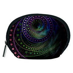 Oz The Great With Technicolor Fractal Rainbow Accessory Pouches (medium)
