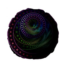 Oz The Great With Technicolor Fractal Rainbow Standard 15  Premium Flano Round Cushions