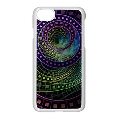 Oz The Great With Technicolor Fractal Rainbow Apple Iphone 8 Seamless Case (white)