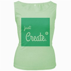 Bloem Logomakr 9f5bze Women s Green Tank Top