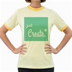 Bloem Logomakr 9f5bze Women s Fitted Ringer T Shirts