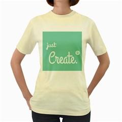 Bloem Logomakr 9f5bze Women s Yellow T Shirt