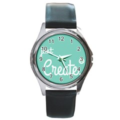 Bloem Logomakr 9f5bze Round Metal Watch