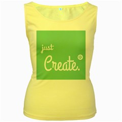 Bloem Logomakr 9f5bze Women s Yellow Tank Top