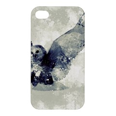 Cute Owl In Watercolor Apple Iphone 4/4s Hardshell Case