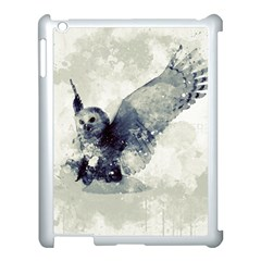 Cute Owl In Watercolor Apple Ipad 3/4 Case (white)