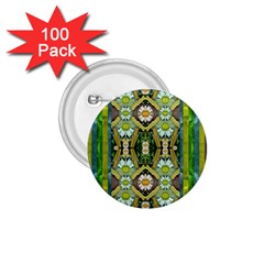 Bread Sticks And Fantasy Flowers In A Rainbow 1 75  Buttons (100 Pack)