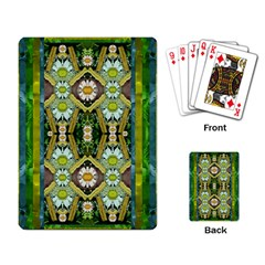 Bread Sticks And Fantasy Flowers In A Rainbow Playing Card