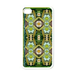 Bread Sticks And Fantasy Flowers In A Rainbow Apple Iphone 4 Case (white)