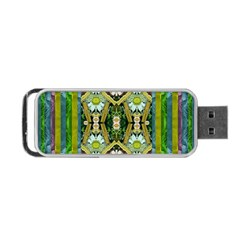 Bread Sticks And Fantasy Flowers In A Rainbow Portable Usb Flash (one Side)