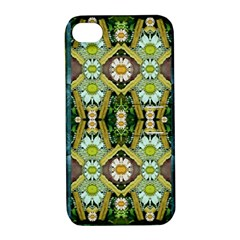 Bread Sticks And Fantasy Flowers In A Rainbow Apple Iphone 4/4s Hardshell Case With Stand