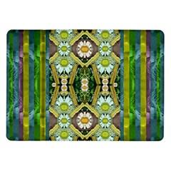 Bread Sticks And Fantasy Flowers In A Rainbow Samsung Galaxy Tab 10 1  P7500 Flip Case
