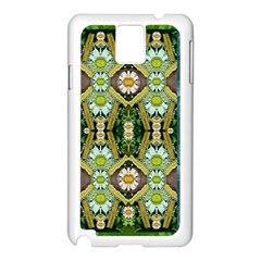 Bread Sticks And Fantasy Flowers In A Rainbow Samsung Galaxy Note 3 N9005 Case (white)