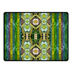 Bread Sticks And Fantasy Flowers In A Rainbow Double Sided Fleece Blanket (small)
