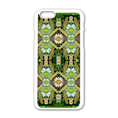 Bread Sticks And Fantasy Flowers In A Rainbow Apple Iphone 6/6s White Enamel Case