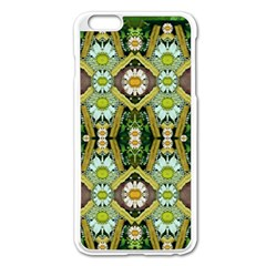 Bread Sticks And Fantasy Flowers In A Rainbow Apple Iphone 6 Plus/6s Plus Enamel White Case