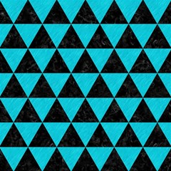 Triangle3 Black Marble & Turquoise Colored Pencil Magic Photo Cubes