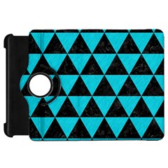 Triangle3 Black Marble & Turquoise Colored Pencil Kindle Fire Hd 7