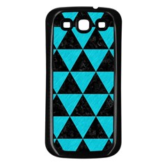 Triangle3 Black Marble & Turquoise Colored Pencil Samsung Galaxy S3 Back Case (black)