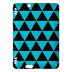 Triangle3 Black Marble & Turquoise Colored Pencil Kindle Fire Hdx Hardshell Case