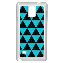 Triangle3 Black Marble & Turquoise Colored Pencil Samsung Galaxy Note 4 Case (white)