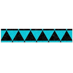 Triangle3 Black Marble & Turquoise Colored Pencil Large Flano Scarf