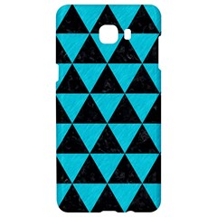Triangle3 Black Marble & Turquoise Colored Pencil Samsung C9 Pro Hardshell Case