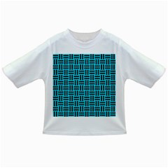 Woven1 Black Marble & Turquoise Colored Pencil Infant/toddler T Shirts