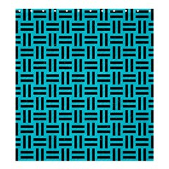 Woven1 Black Marble & Turquoise Colored Pencil Shower Curtain 66  X 72  (large)