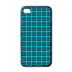 Woven1 Black Marble & Turquoise Colored Pencil Apple Iphone 4 Case (black)