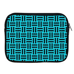 Woven1 Black Marble & Turquoise Colored Pencil Apple Ipad 2/3/4 Zipper Cases