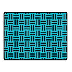 Woven1 Black Marble & Turquoise Colored Pencil Double Sided Fleece Blanket (small)